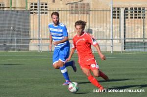 Javier Agudo en el partido amistoso frente al Terrassa